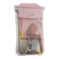 Чехол водонепроницаемый Baseus универсальный Safe Airbag Waterproof Case (4,5 - 7) Прозрачно Розовый