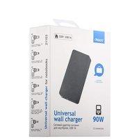 Сетевой адаптер питания для ноутбуков Deppa D-21103,90 Вт универсальный, (12 коннекторов) Черный