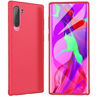 Красный карбоновый силиконовый чехол для Samsung Galaxy Note 10