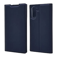 Синий кожаный чехол книжка для Samsung Galaxy Note 10
