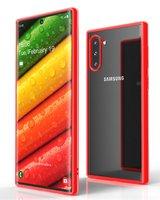 Красный пластиковый бампер для Samsung Galaxy Note 10 с прозрачной задней частью