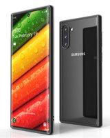 Черный пластиковый бампер для Samsung Galaxy Note 10 с прозрачной задней частью