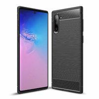 Черный защитный силиконовый чехол для Samsung Galaxy Note 10