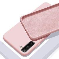 Силиконовый чехол для Samsung Galaxy Note 10 розовое золото