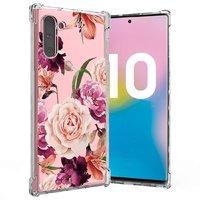 Прозрачный силиконовый чехол для Samsung Galaxy Note 10 рисунок цветы