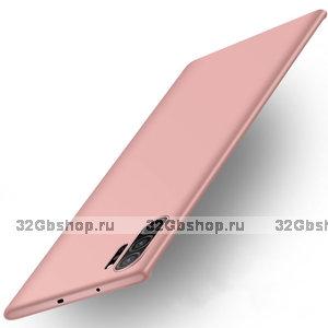 Пластиковый чехол для Samsung Galaxy Note 10+ Plus розовое золото
