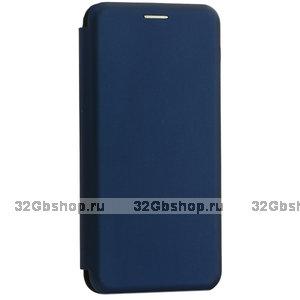 Синий кожаный чехол книжка чехол для Samsung Galaxy Note 10+ Plus