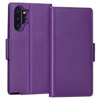 Фиолетовый кожаный чехол книга чехол для Samsung Galaxy Note 10 Plus