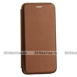 Коричневый кожаный чехол книжка чехол для Samsung Galaxy Note 10 Plus