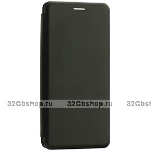 Черный кожаный чехол книжка чехол для Samsung Galaxy Note 10+ Plus