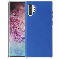 Голубой силиконовый чехол для Samsung Galaxy Note 10+ Plus