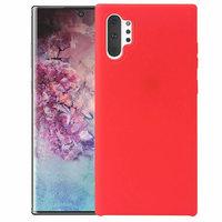 Красный силиконовый чехол для Samsung Galaxy Note 10+ Plus