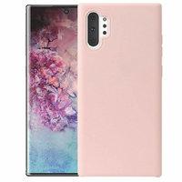 Силиконовый чехол для Samsung Galaxy Note 10+ Plus розовое золото