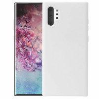 Белый силиконовый чехол для Samsung Galaxy Note 10+ Plus