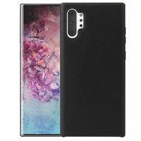 Черный силиконовый чехол для Samsung Galaxy Note 10+ Plus