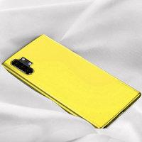 Желтый прозрачный силиконовый чехол для Samsung Galaxy Note 10 Plus