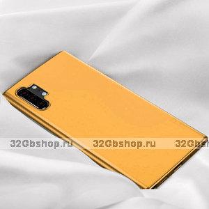 Оранжевый прозрачный силиконовый чехол для Samsung Galaxy Note 10 Plus