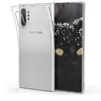 Прозрачный силиконовый чехол для Samsung Galaxy Note 10+ Plus два отверстия камеры