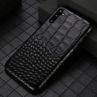 Черный чехол из кожи крокодила для Samsung Galaxy Note 10 брюшко