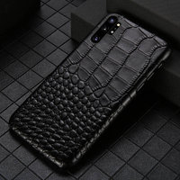 Черный чехол из кожи крокодила для Samsung Galaxy Note 10+ Plus брюшко