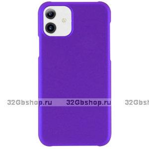 Фиолетовый пластиковый чехол для iPhone 11