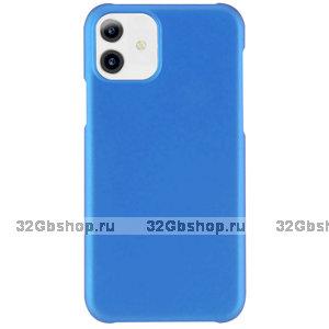 Голубой пластиковый чехол для iPhone 11
