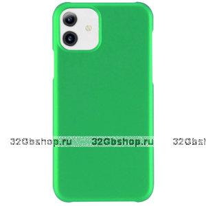 Зеленый пластиковый чехол для iPhone 11