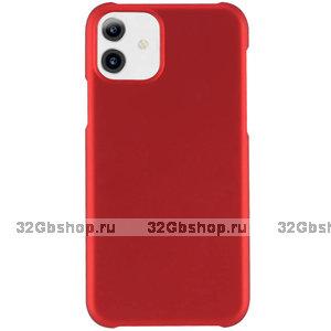 Красный пластиковый чехол для iPhone 11
