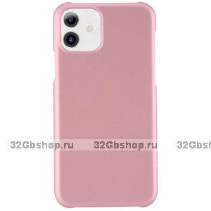 Розовый пластиковый чехол для iPhone 11