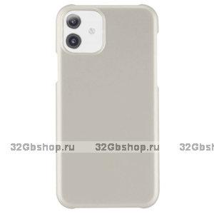 Серебряный пластиковый чехол для iPhone 11