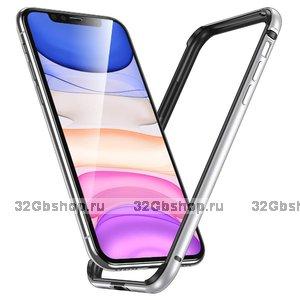 Алюминиевый бампер для iPhone 11 серебристый