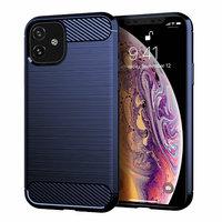 Синий защитный силиконовый чехол для iPhone 11