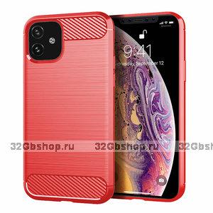 Красный защитный силиконовый чехол для iPhone 11