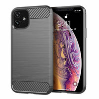 Серый защитный силиконовый чехол для iPhone 11