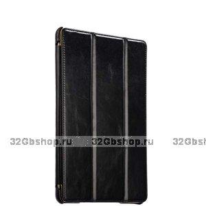 Черный кожаный чехол i-Carer Vintage Series Black для iPad 10.2 2019