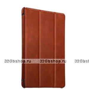 Коричневый кожаный чехол i-Carer Vintage Series Brown для iPad 10.2 2019