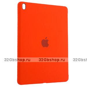 Красный силиконовый чехол накладка Silicone Case для iPad 10.2 2019