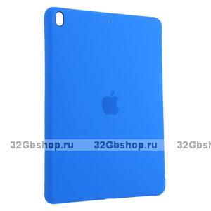 Голубой силиконовый чехол накладка Silicone Case для iPad 10.2 2019