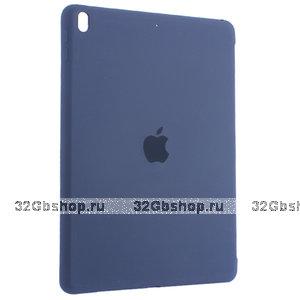 Синий силиконовый чехол накладка Silicone Case для iPad 10.2 2019