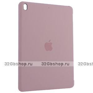 Розовый силиконовый чехол накладка Silicone Case для iPad 10.2 2019