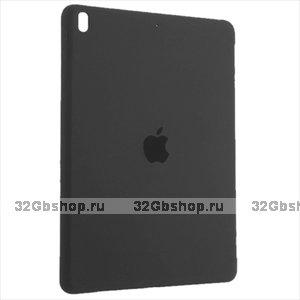 Черный силиконовый чехол накладка Silicone Case для iPad 10.2 2019