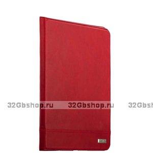 Красный кожаный чехол для iPad 10.2 2019 - XOOMZ Genuine leather Case Magnetic Closure and Stand Red
