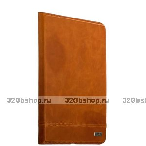 Коричневый кожаный чехол для iPad 10.2 2019 - XOOMZ Genuine leather Case Magnetic Closure and Stand Brown