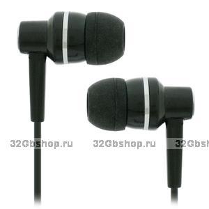 Стерео-наушники вставные Ritmix RH-119 Black черные