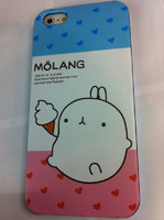 Накладка MOLANG Rabbit для iPhone 5 / 5s / SE заяц с мороженым