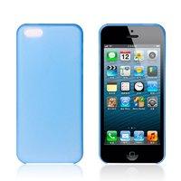 Ультратонкий чехол накладка для iPhone 5c синий
