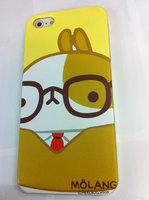 Накладка MOLANG Rabbit для iPhone 5 / 5s / SE заяц в очках