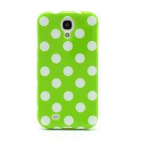 Силиконовый чехол для Samsung Galaxy S4 зеленый с белыми точками - Polka Dots Green&White