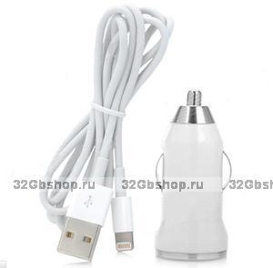 Автомобильная зарядка для iPhone 5/5s / 6/6s/Plus, iPhone 7/8/8Plus, iPhone X/Xs / Xr / 11 - Car Charger Adapter with Lightning - USB Cable