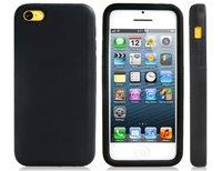 Cиликоновый чехол накладка для iPhone 5c черный